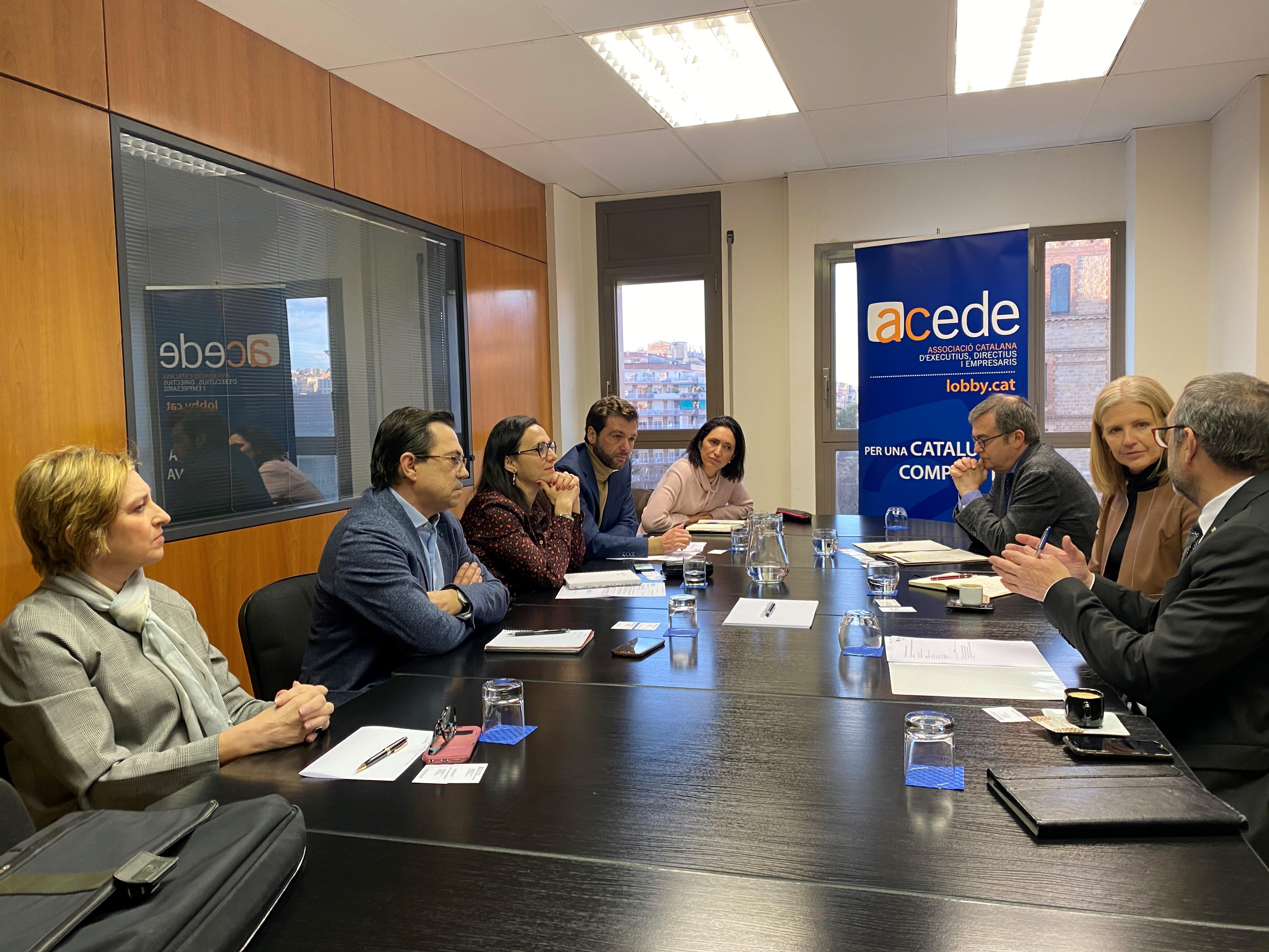 L'ACEDE es reuneix amb Matilde Villarroya, Directora General d'Indústria. Departament d'Empresa i Coneixement de la Generalitat de Catalunya