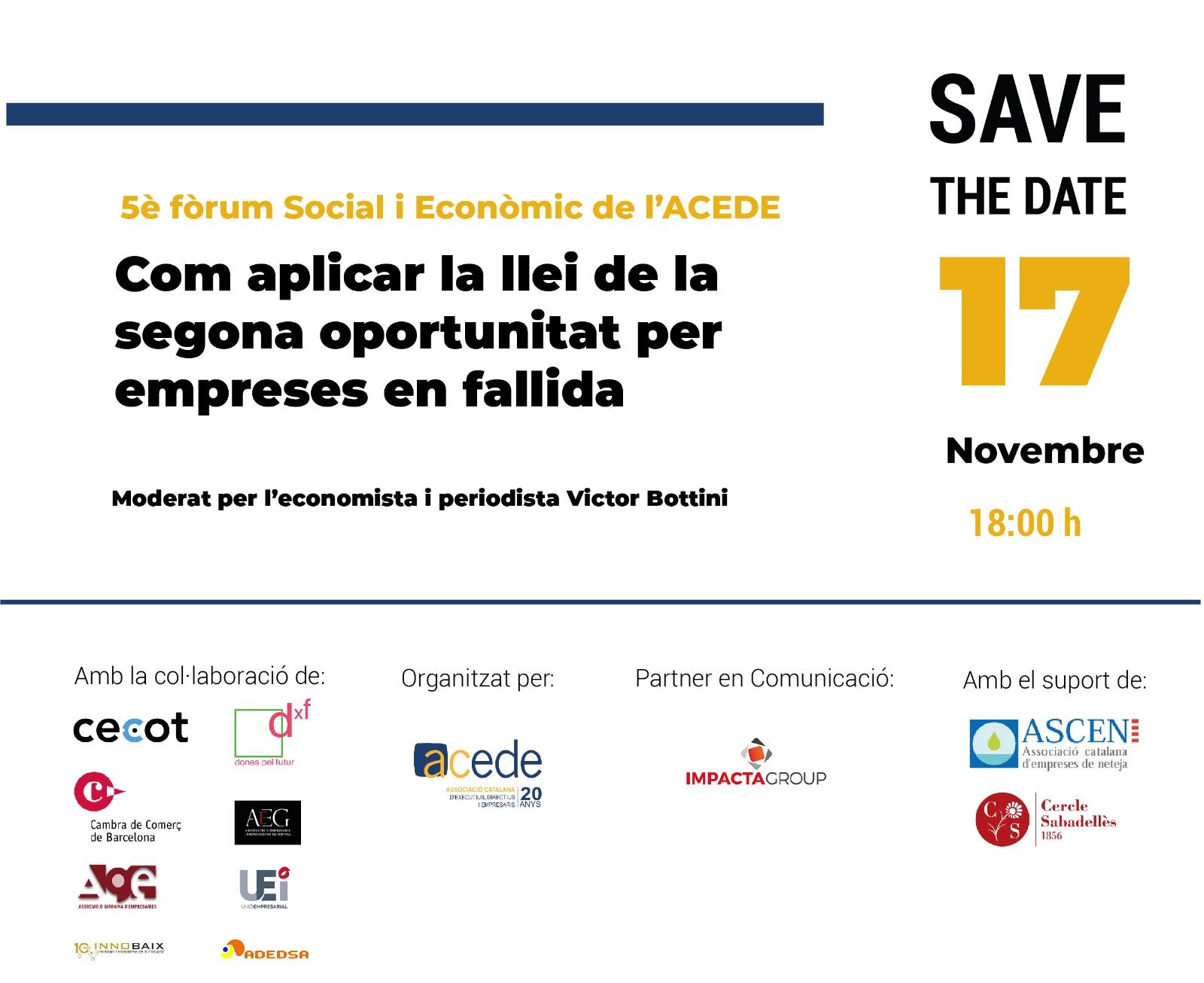 5è Fòrum social i econòmic Per una Catalunya Competitiva | Com aplicar la llei de la segona oportunitat per empreses en fallida
